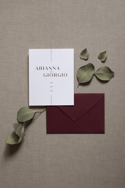 Font partecipazioni matrimonio: sans serif